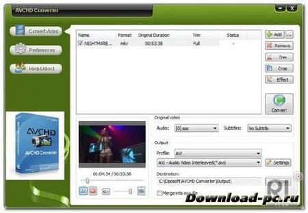 OpoSoft AVCHD Converter 7.5
